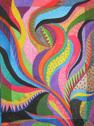 67 best Painted Quilts images on Pinterest | Quilt patterns ... & Abstract Painted Quilt by Cindy Walter Adamdwight.com