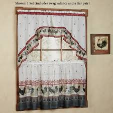 Kitchen Tier Curtains Sets Kitchen Curtains Tiers And Valance Window Treatments Touch Of Class