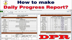 How To Make Daily Progress Report In Construction Site