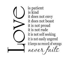 Love Is Patient Quote