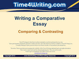 writing a comparative essay ppt video online  writing a comparative essay