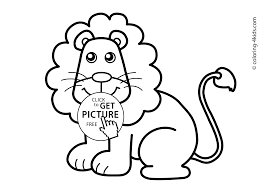 Small Picture Lion Animals coloring pages for kids printable free coloing