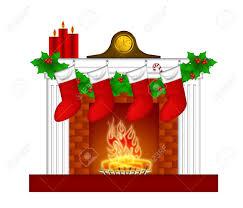 Camino decorazione di natale con candele stocking pilastro garland