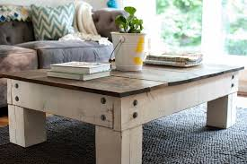 farmhouse style coffee table intended for chunky tables design and furniture decorations 14