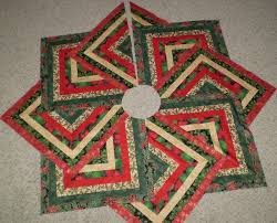 Quilted Christmas Tree Skirt Pattern (01)