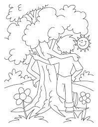 Small Picture The Giving Tree Coloring Pages Coloring Home