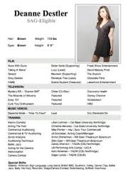 child actor resume template theater resume example sample musical theatre resume