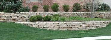 a dry stack stone retaining wall