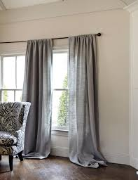 belgian linen dry panel gray traditional curtains by ballard designs