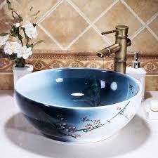 Round sink bowl White Round Bathroom Sinks Ceramic White Round Lavobo Ceramic Bathroom Countertop Basin Bathroom Sink Bowl Decorative Vessel Harmonizandoambienteclub Round Bathroom Sinks Harmonizandoambienteclub