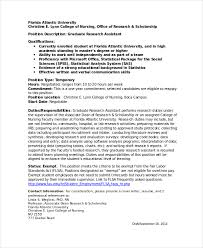 Resume Social Science Research Graduate Research Assistant Resume