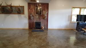 diy man cave on a budget concrete stain rustic low cost touches