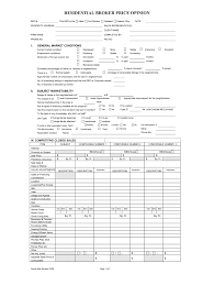 Broker Price Opinion Template Fill Online Printable