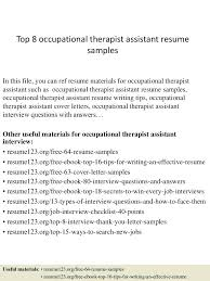 Occupational Therapy Resume Examples - April.onthemarch.co