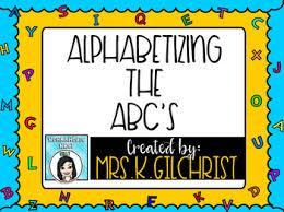 Abc Order Promethean Activinspire Flipchart Lesson