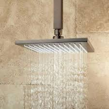 shower head with square arm oil rubbed bronze delta brushed nickel ceiling mount