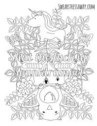 Curse Word Coloring Pages Ng Swear Book Cursing Cuss Free Pdf Acnee
