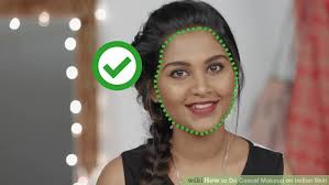 image led do cal makeup on indian skin step 1