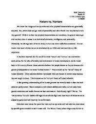 intelligence nurture vs nature essay  argumentative essays nature vs nurture argumentative