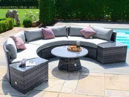 maze rattan half moon sofa set at
