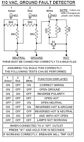 v outlet tester electronics forum circuits projects and here is the circuit i use explainations for the different light configurations
