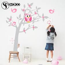 owl tree flowers birds vinyl wall sticker decal nursery kids baby bedroom stickers decor 169x200cm home wall stickers horse wall decals from xuol
