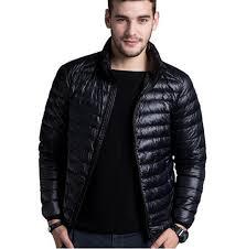 men s casual warm jackets solid thin breathable winter jacket mens outwear coat lightweight parka plus size xl hombre jaqueta unique mens jackets black