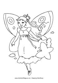 Small Picture Fairy Colouring Pages