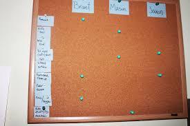 The Crazed Dish Cork Board Chore Chart