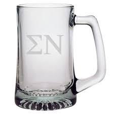 sigma nu 25 oz beer mug
