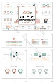 40 Page Comparison Percentage Information Visualization Ppt