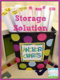 Teacher Chart Storage Anchor Chart Storage Solutions Classroom Organization