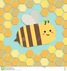 Beehive Pattern Mesmerizing Cute Bee In Yellow Hexagon Beehive Pattern Stock Vector