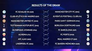 champions league chart 2018 champions league and europa league draw live round of 16 32