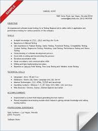Qa Tester Sample Resume Qa Tester Resume Resume Templates Sample