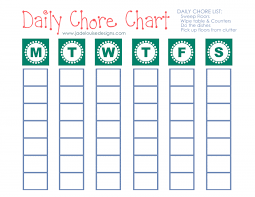 Fill In Chore Chart Printable Cleaning Tips To Reduce Allergies Printable Chore Chart
