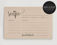 Recipe Cards Print 570 Best Printable Recipe Cards Images Free Printables Free