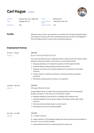 Janitor Resume Sample Template Example Cv Formal Design