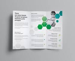 2 Folded Brochure Template Hexagon Corporate Tri Fold Brochure Template Graphic Templates
