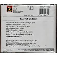 orchestral works leonard slatkin st louis symphony orchestra   barber samuel orchestral works leonard slatkin st louis symphony orchestra