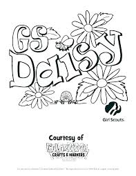 Brownie Girl Scout Coloring Pages