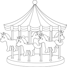 Small Picture Carousel Coloring Page Clipart Pinterest Carousel horses