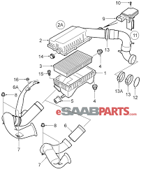 12788131 saab mass air flow sensor genuine saab parts from rh esaabparts saab oem parts diagram saab 900 parts diagram