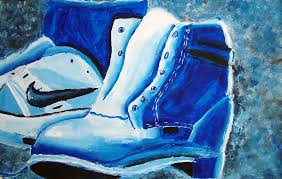 monochromatic painting examples. monochromatic shoe painting by mistressdragoness examples