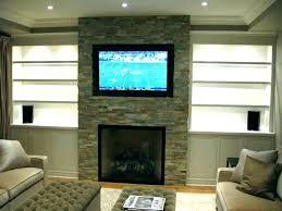 fireplace mount brick installation tv over ideas