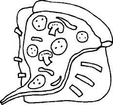 Kids N Fun Kleurplaat Eten Pizza Punt