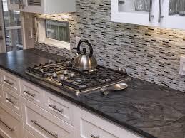 kitchen backsplash white cabinets black countertop kitchen gray