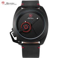 aliexpress com buy tawny shark sport watch red special date aliexpress com buy tawny shark sport watch red special date classic crown design leather band male military waterproof quartz men s watches sh446 from