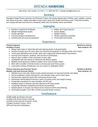 Awesome Collection Of Best Fitness And Personal Trainer Resume