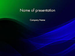 Blue Powerpoint Theme Abstract Dark Green And Blue Free Presentation Template